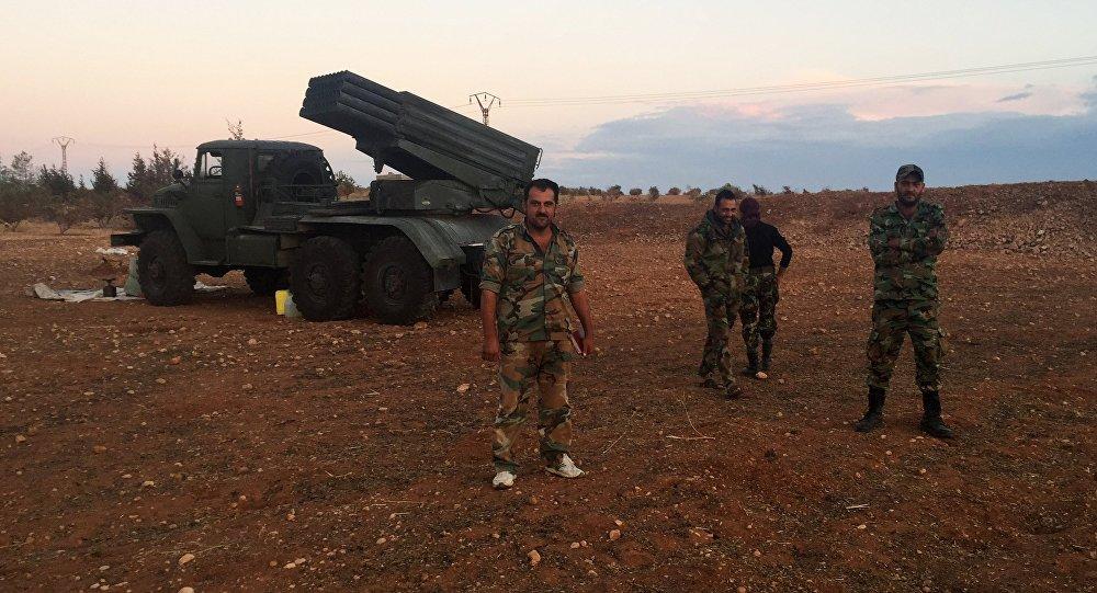 Soldados del Ejército sirio en la provincia de Hama (archivo)