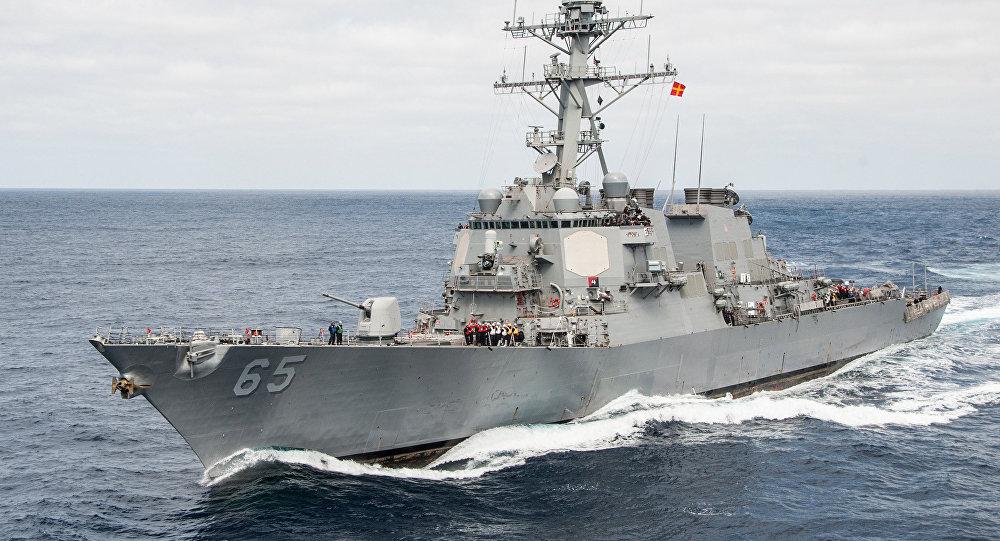 El destructor USS Benfold de las Fuerzas Navales de los EEUU