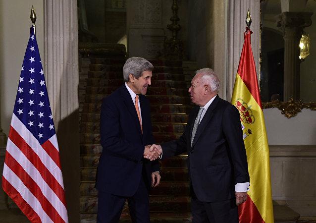 El ministro de Exteriores de España, José Manuel García-Margallo y el secretario de Estado de EEUU, John Kerry