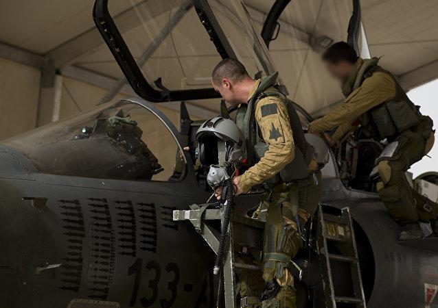 Pilotos de los cazas Mirage 2000 de las Fuerzas Aéreas de Francia
