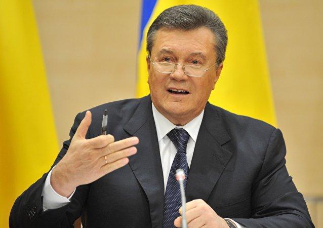 Víctor Yanukóvich, expresidente de Ucrania
