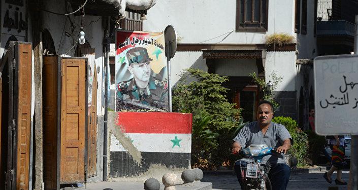 Una calle en Damasco