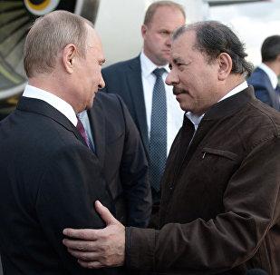 Presidente de Rusia, Vladímir Putin, y presidente de Nicaragua, Daniel Ortega (archivo)