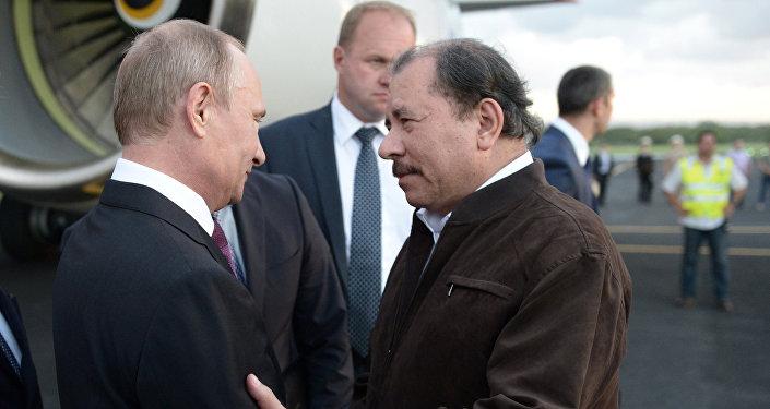 Vladímir Putin y Daniel Ortega, presidentes de Rusia y Nicaragua respectivamente