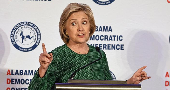 Hillary Clinton, candidata del Partido Demócrata a la presidencia de EEUUata presidencial demócrata Hillary Rodham Clinton habla durante un evento de la Conferencia Demócrata de Alabama en Hoover, Alabama