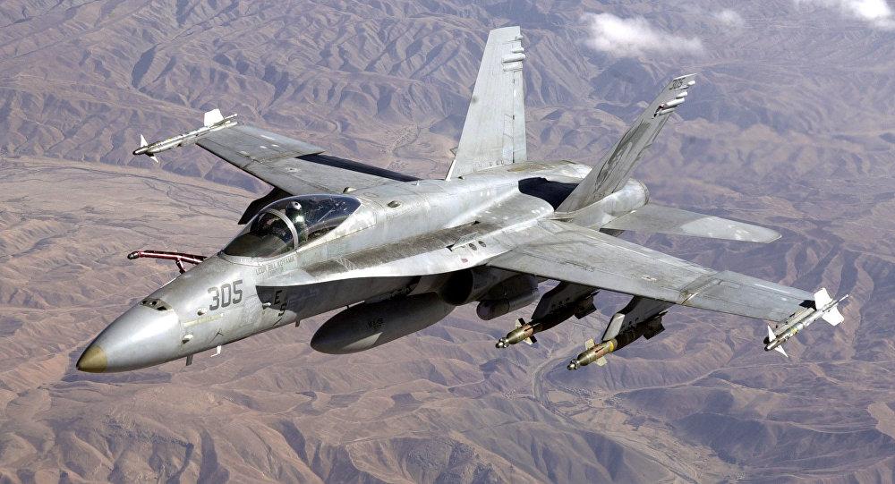 Un avión F/A-18 Hornet estadounidense (archivo)