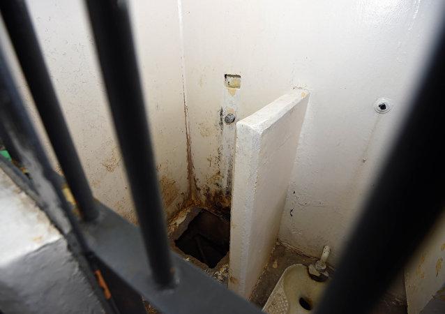 El túnel, a través del cual se escapó el narco Chapo Guzmán