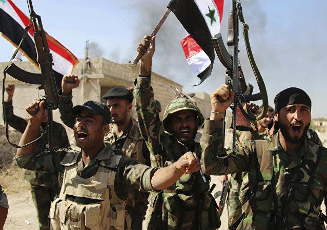 Soldados del Ejército de Siria