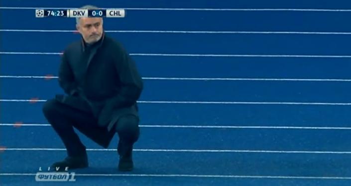 """El baile """"ucraniano"""" de Mourinho"""