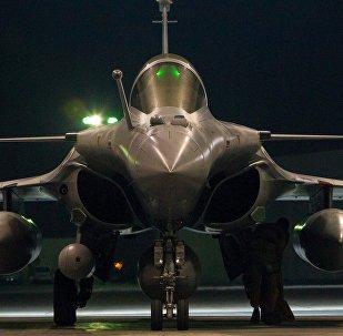 Un caza Dassault Rafale de las FFAA de Francia