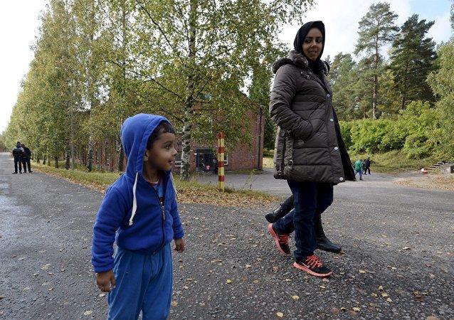 Refugiados iraquíes en Lahti, Finlandia