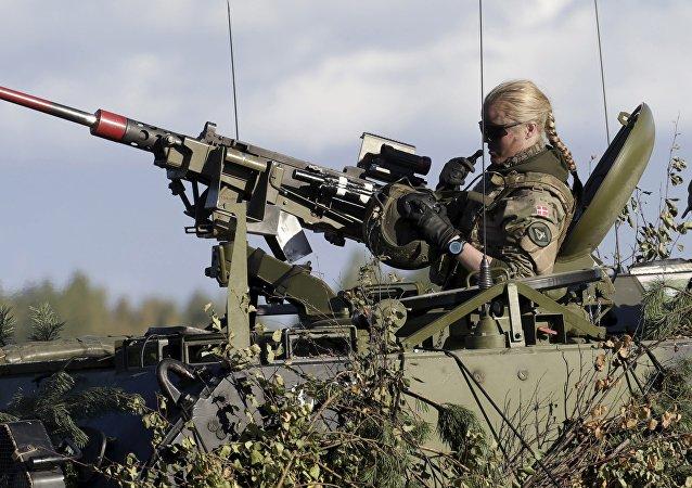 Los soldados de la OTAN durante las maniobras en Letonia