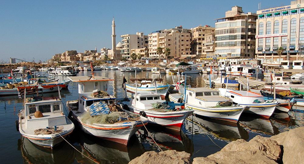 El puerto de Tartus, Siria