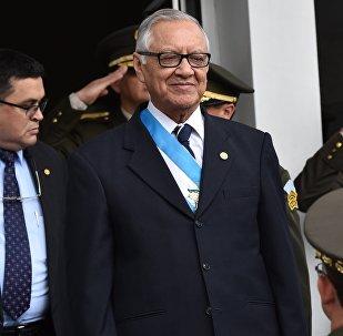Alejandro Maldonado, presidente interino de Guatemala