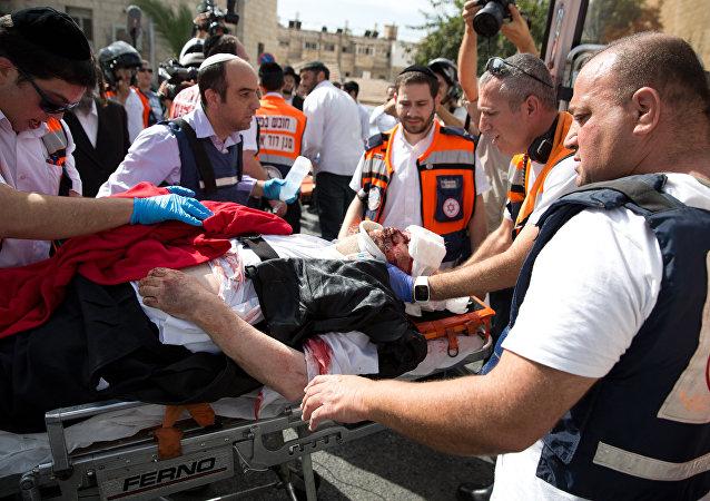 Colono israelí herido en un incidente de acuchillamiento (Archivo)