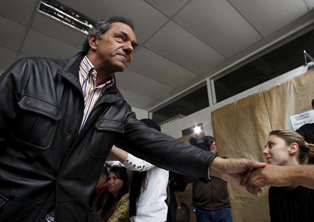Daniel Scioli, candidato presidencial oficialista