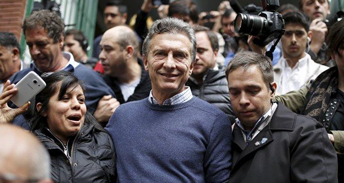 Mauricio Macri, el líder de la coalición opositora Cambiemos