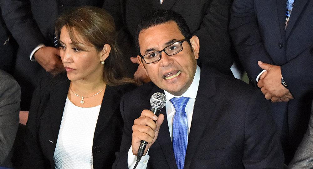 Jimmy Morales, ganador de la elección presidencial de Guatemala
