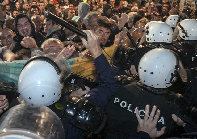 Protestas antigubernamentales en Montenegro