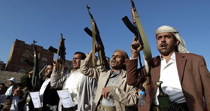 Rebeldes en Saná, Yemen