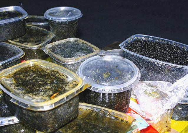 Caviar negro confiscado (archivo)