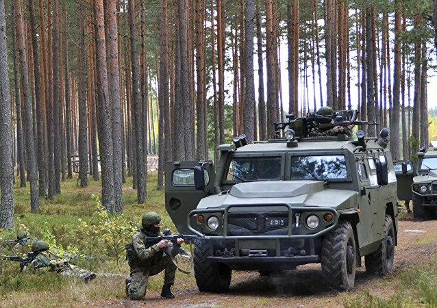 Entrenamiento de las unidades de misiones especiales del Distrito Militar Oeste de Rusia