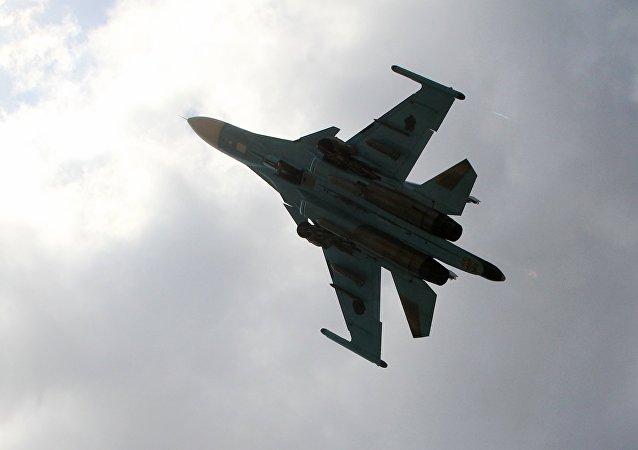 Avión de las Fuerzas Aeroespaciales de Rusia en Siria