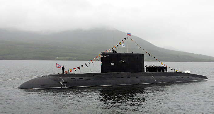 Uno de los submarinos rusos clase Kilo (archivo)