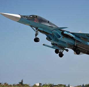 Avión ruso Su-34 en Siria