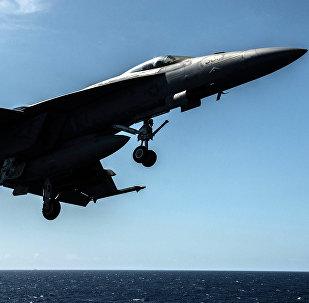 F/A-18F Super Hornet norteamericano (archivo)