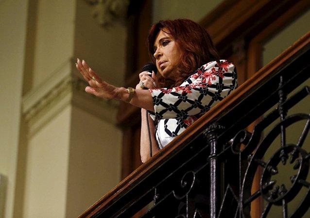 La ex presidenta argentina Cristina Fernández de Kirchner