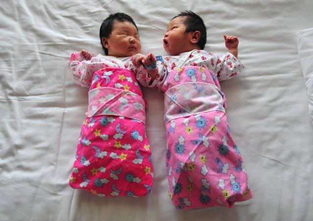 Babés recién nacidas en Pekín, China