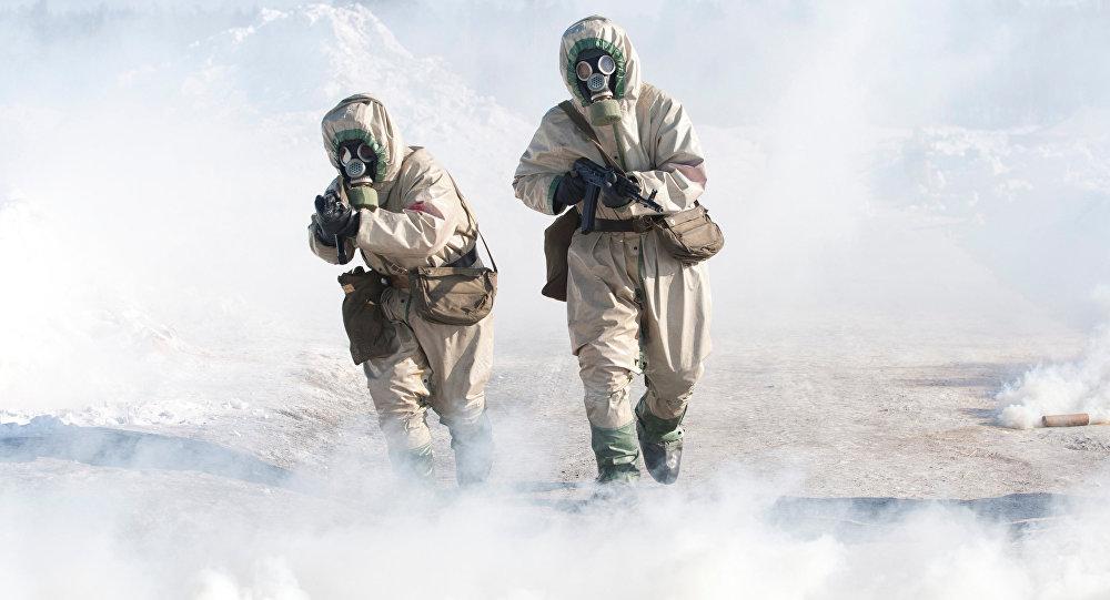 Maniobras de las Fuerzas de defensa nuclear, biológica y química de Rusia