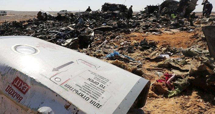 Los restos del Airbus A321 ruso siniestrado en Egipto