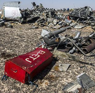 Los restos del avión ruso A321 siniestrado en la peninsula de Sinaí