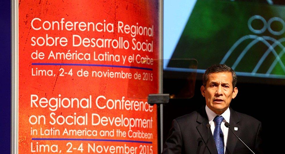 Presidente de Perú Ollanta Humala inaugura la Conferencia Regional Sobre Desarrollo Social de América Latina y el Caribe