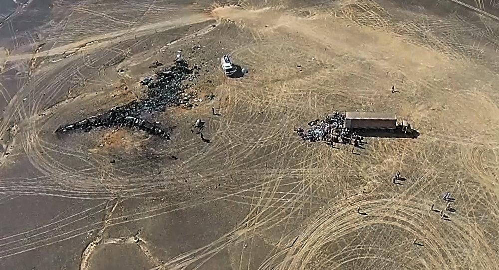 Operación de rescate en el lugar del siniestro del avión ruso A321