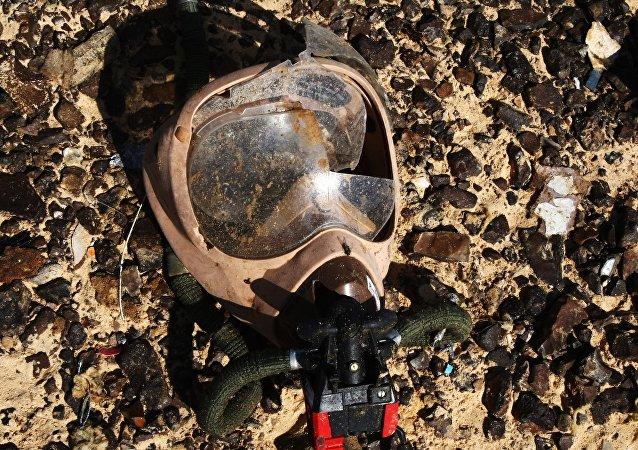 Máscara de oxigeno en los restos del Airbus-321