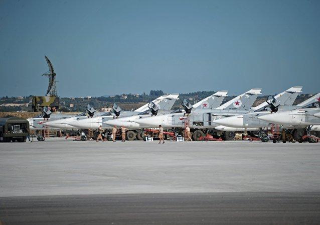 Cazas rusos Su-24 en Siria