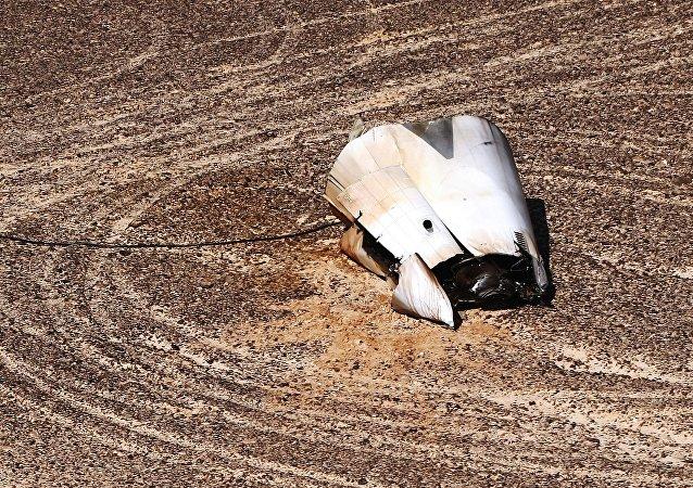 Lugar del accidente del Airbus A321 ruso en Egipto