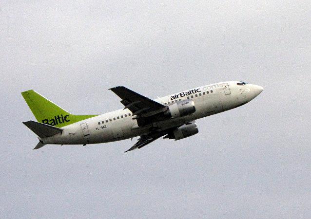 Avión de la compañía Airbaltic