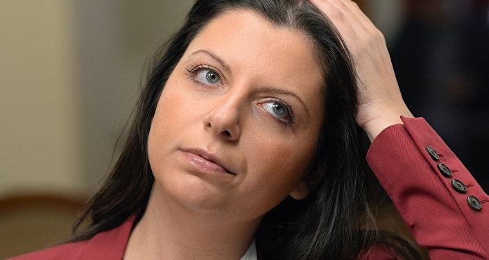 Margarita Simonián,  directora de la agencia Rossiya Segodnya y de RT