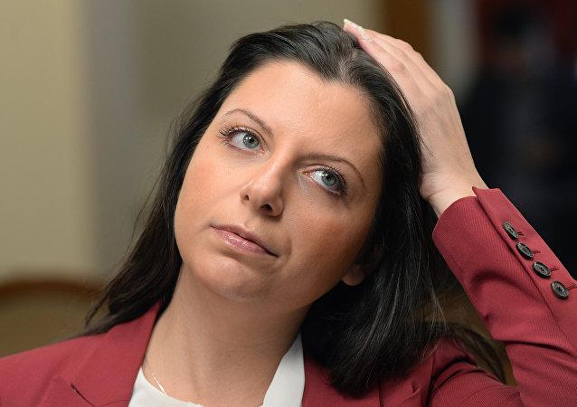 Margarita Simonyan, redactora jefa de la agencia Rossiya Segodnya y de RT