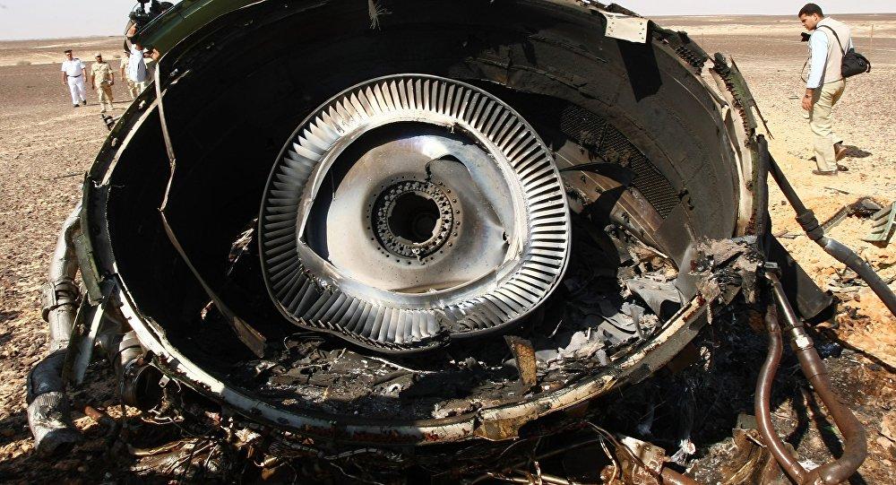 Restos del avión ruso Airbus-321 siniestrado en Egipto
