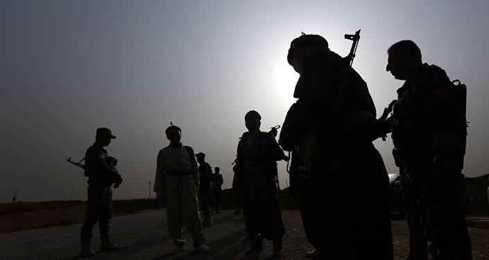 Milicianos kurdos en Irak (archivo)