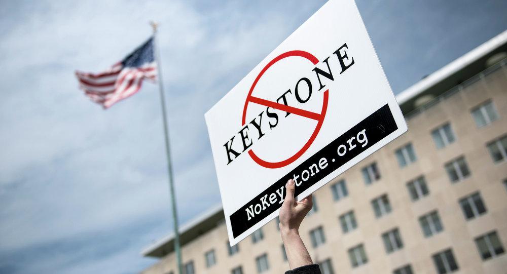 Protestas contra la construcción del oleoducto Keystone XL