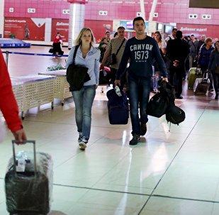 Turistas rusos en Egipto