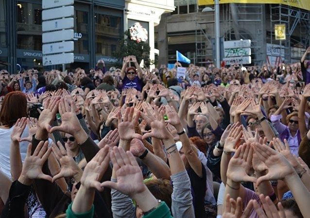 Manifestación contra la violencia de género, Madrid