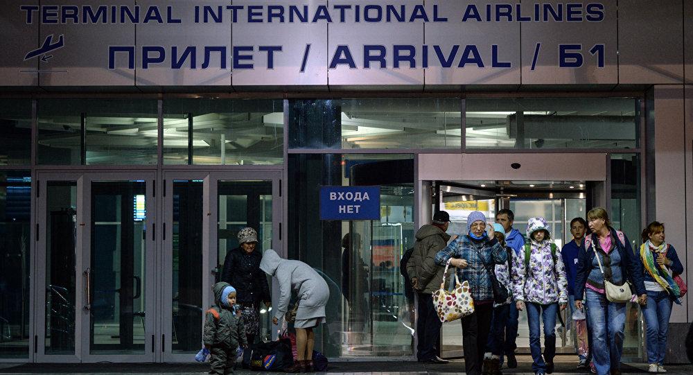 Turistas rusos llegan de Egipto