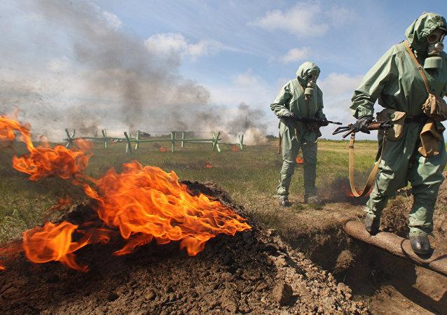 Simulacro de ataques con armas químicas en Rusia